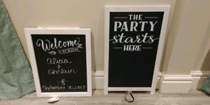Wedding chalk board signs 30$ each