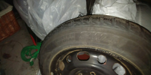 Mazda 3 set of 4 steel rims and winter tires
