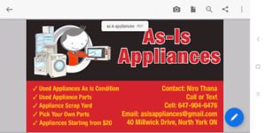 appliances & parts from $20-$150
