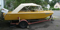 For Sale 16 ft.1971 Duracraft boat motor and trailer