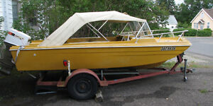 For Sale or Trade 16 ft.1971 Duracraft boat motor and trailer