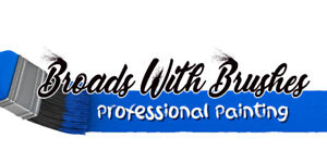 Professional Painters Broads with Brushes
