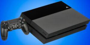 PS4 with controller, headset and games