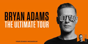 Bryan Adams Tickets June 8 -VIP CENTER FLOOR SEATING & BALCONY !