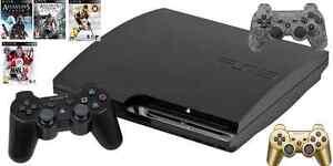 Console PS3 + 4 Jeux + 3 Manette