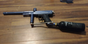 PMI Piranha STS Paintball Marker/Gun with CO2 Tank and Extras