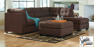 Brand NEW Maier Walnut 2PC Sectional! Call 306-347-3311!