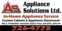 Appliance Sales, Parts, & Service!