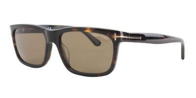 Tom Ford Hugh Sunglasses Dark Havana Frame Brown CAT3 Lens FT0337 56J 55mm