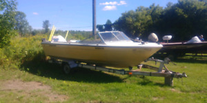18' Campion boat, motor and trailer