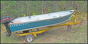 "12 foot Harbercraft ""Classic Aluminum Boat with Motor and Traile"