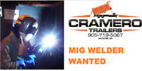 MIG WELDER WANTED WITH MIN 5 YRS. EXPERIENCE