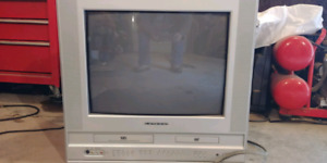 21in color tv with built in DVD AND VHS vcr
