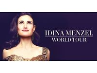 TICKETS FOR IDINA MENZEL AT THE BRIDGEWATER HALL, MANCHESTER ON 18 JUNE 17 - GREAT SEATS!!
