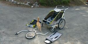 Chariot double bien équipé