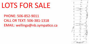 Large building lots for sale in Shediac Cape