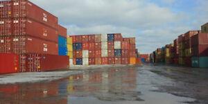 Conteneurs maritimes 20' et 40' HC usagés pour entreposage. A.1