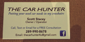 THE CAR HUNTER - Putting your used car needs in my crossharis