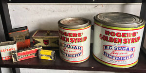 Assorted tin cans