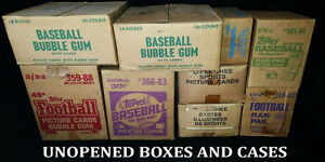 Parkhurst Topps OPC Baseball Hockey sports cards box case set $$
