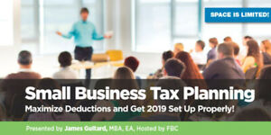 Lunch & Learn - Small Business Tax Planning and 2019 Tips!
