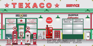 Texaco Gas Station 30x60 inches Banner