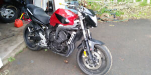 2007 yamaha FZ6 Red Streetfighter