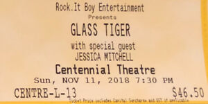 Glass Tiger concert tickets Sunday November 11 North Vancouver