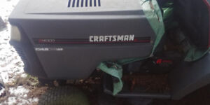 """craftsman 42"""" 14 hp riding mower and plow $125"""