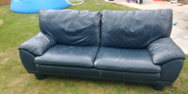 Navy leather couch for FREE