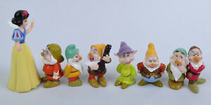 8PCS Snow White and the Seven Dwarfs figures Loose #LC