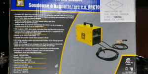 Small stick 120v welder. Almost new. Comes with rods