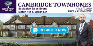 Guaranteed Townhouse Lot in Cambridge, starting low $400,000