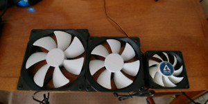 NEW Assorted Case Fans (3)- Fractal Design and Arctic