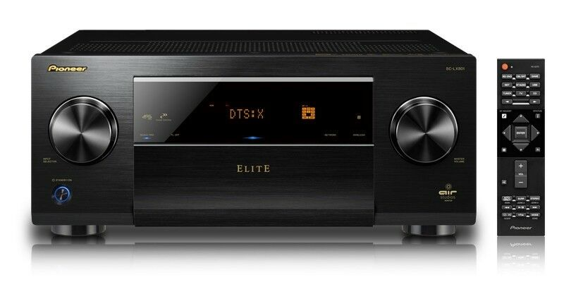 Pioneer Elite 810W 9.2-Ch. Network-Ready 4K Ultra HD 3D Pass-Through A/V Home Theater Receiver Black SCLX801