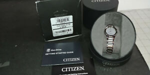Ladies' Citizen Eco-Drive® Axiom Diamond Accent Watch with Silve
