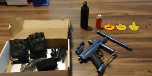 Piranha STS Paintball Marker/Gun with Air Tank and Extras, $80