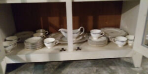 8 Piece Place Setting China Set with Gravy Boat