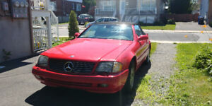Mercedes-Benz SL500 2000 (rouge!)