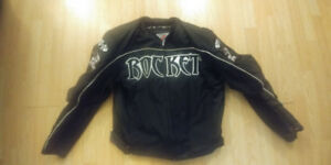 Joe rocket mens large motorcycle jacket with armour
