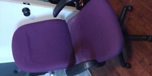 Purple office chair