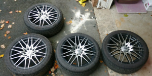 """17"""" rims with brand new tires!"""