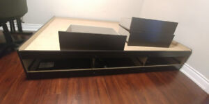 Bed frame (double) with storage