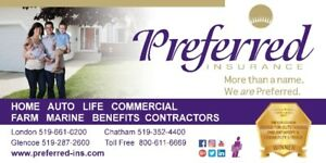 Preferred Insurance - Working Hard For You!