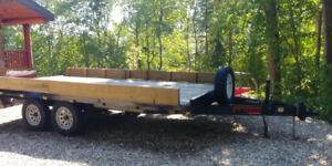 Deck Over flat deck trailer