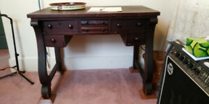Antique Empire Desk Original