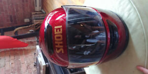 Casque de moto rouge small dot snell approved