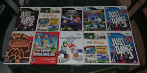 Wii games $5 each or $40 for all 11