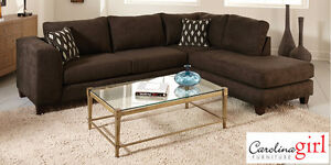 Brand NEW Felix Chocolate 2-Piece Sectional! Call 306-347-3311!