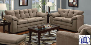 Brand NEW  Luna Mineral Sofa! Call 306-343-2155!